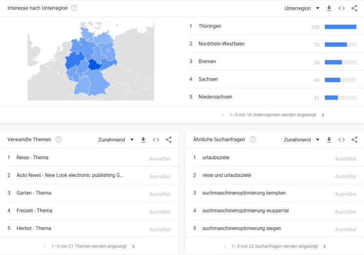 google trend unter regionen